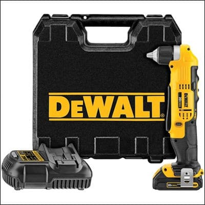 DEWALT DCD740C1 cordless right angle drill review